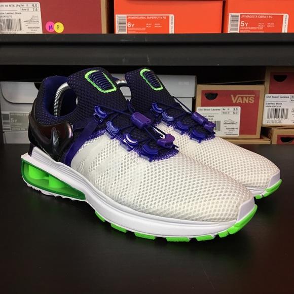 pretty nice 0934d 19288 Nike Shox Gravity Purple Green Joker Women s NEW